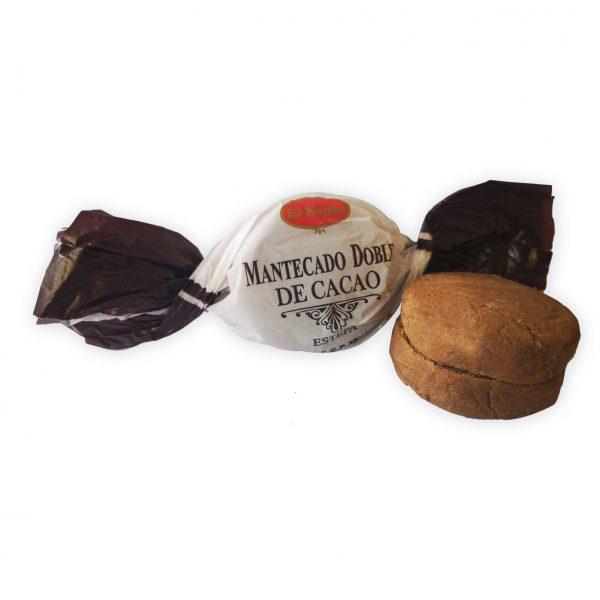 Mantecado doble de cacao
